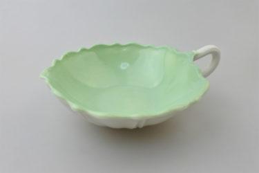 【ビンテージ】被せウランガラスカップ