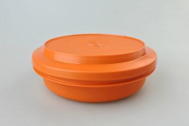 B_【ビンテージ】日本製Tupperware(タッパーウェア) シールアンドサーブ オレンジ キャニスター 密閉容器