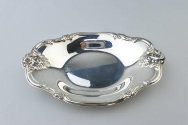 【ビンテージ】アメリカ International Silver Company(インターナショナルシルバーカンパニー)社製シルバープレートキャンディーディッシュ/#448