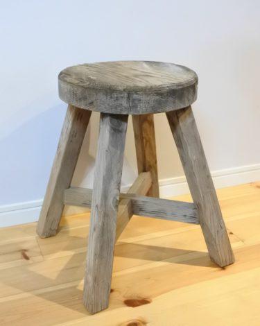 【ビンテージ】古い木製丸椅子/スツール/子供用